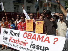 Pakistani protesters rally in favour of Barack Obama