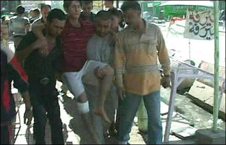 Scene of Baghdad bombing