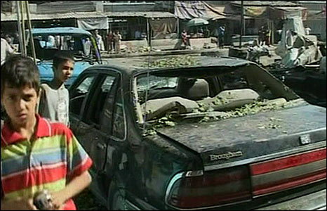 Scene of Baghdad bombing