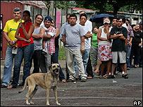 Votantes en Nicaragua.