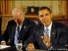 Barack Obama and Joe Biden meet transition team