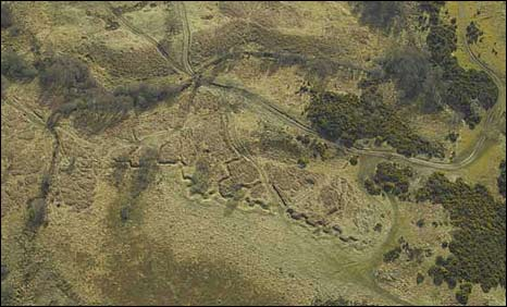 Trenches in Ross-shire. Pic: CROWN COPYRIGHT