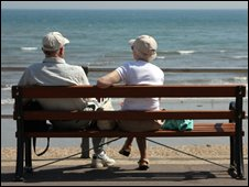 Elderly couple by the seaside