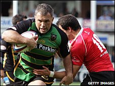 Northampton Saints playing London Welsh in National One