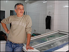 Mazen Hassounh, fishmonger in East Jerusalem