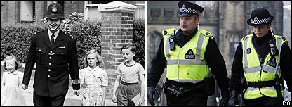 Police officers in the past and present