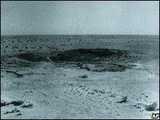 Site of 1974 crater in the Thar desert area, southwest of Delhi
