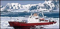 Arctic research vessel - the James Clark Ross