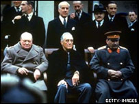 Churchill, Roosevelt y Stalin