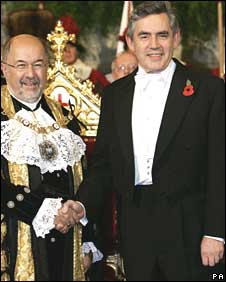 Gordon Brown and Lord Mayor Ian Luder