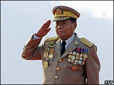 Burma's military leader Than Shwe