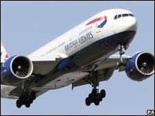 A passenger jet