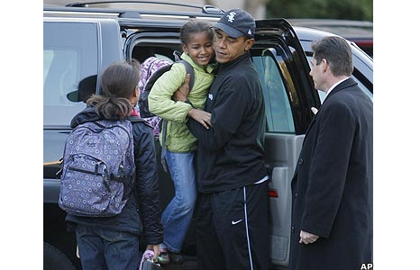 Barack Obama and his children