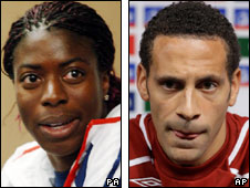 Christine Ohuruogu and Rio Ferdinand