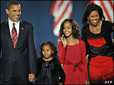 Barack Obama and his family