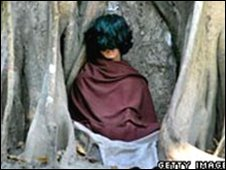 Ram Bomjan meditating in village of Ratanapuri in Bari district (file photo from 11.03.2006)