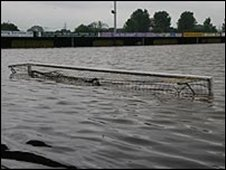 Submerged Gloucester FC ground