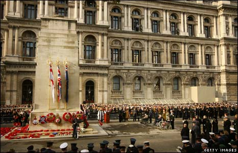 Armistice Day service at London's Cenotaph