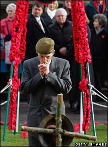 Armistice Day service in Edinburgh