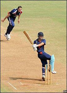 Steve Harmison takes a wicket