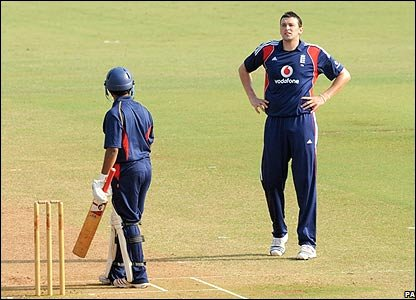 Steve Harmison is frustrated