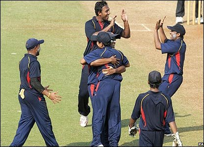 Mumbai President's XI celebrate their win