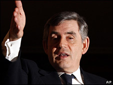 Gordon Brown at the press conference