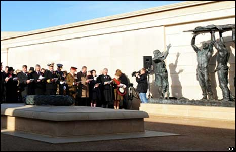 Service at the National Memorial Arboretum