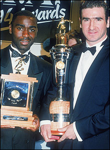Andrew Cole and Eric Cantona