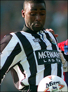 Andrew Cole at Newcastle