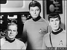 William Shatner, DeForest Kelley and Leonard Nimoy in the original series