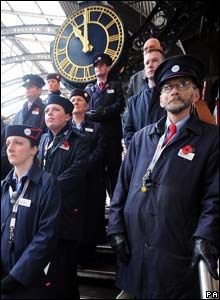Railway workers observe silence in York