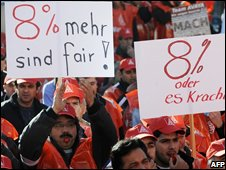 Protest by IG Metall workers earlier this week