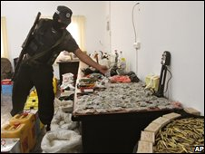 Palestinians seized weapons from Hamas during recent raids
