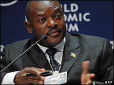 File photo of Burundi's President Pierre Nkurunziza, June 2008