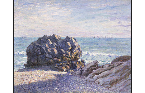 Storr's Rock, Lady's Cove, Evening, 1897. © Amgueddfa Cymru – National Museum Wales. Acquired with the assistance of The Art Fund (with a contribution from the Wolfson Foundation)