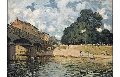 Bridge at Hampton Court, 1874. © Rheinisches Bildarchiv, Cologne