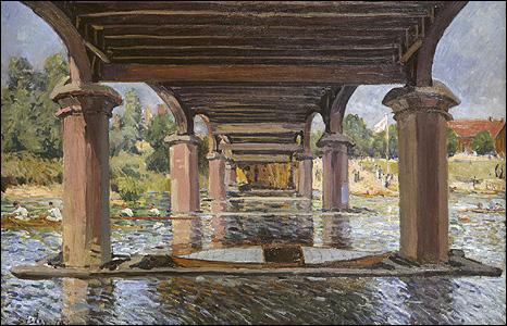 Under the Bridge at Hampton Court, 1874. © Kunstmuseum Winterthur. Presented by Dr Herbert and Charlotte Wolfer-de Armas, 1973
