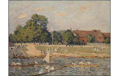 Regatta at Hampton Court, 1874. © Photo courtesy of the owner
