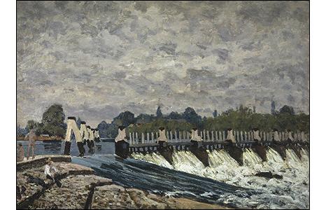 Molesey Weir, Hampton Court, Morning, 1874. © The National Gallery of Scotland, Edinburgh