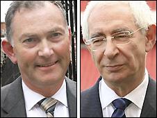 Premier League chief executive Richard Scudamore (left) and FA chairman Lord Triesman