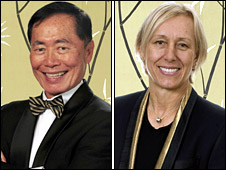 George Takei and Martina Navratilova