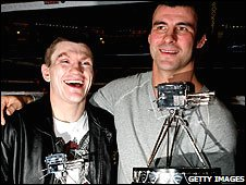 Ricky Hatton and Joe Calzaghe