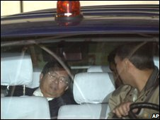 Taiwan's former President Chen Shui-bian briefly interrupts court proceedings against him to be taken to hospital
