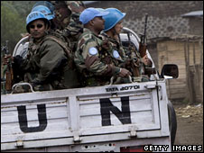 UN peacekeepers in the DR Congo