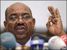 File photograph of Omar Hassan al-Bashir