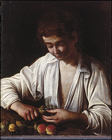 Boy Peeling Fruit (The Royal Collection - HM Queen Elizabeth II)