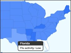 Google flu map