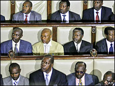 Kenya MPs in parliament earlier this year