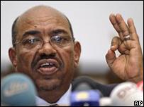 Omar al-Bashir, presidente de Sudán